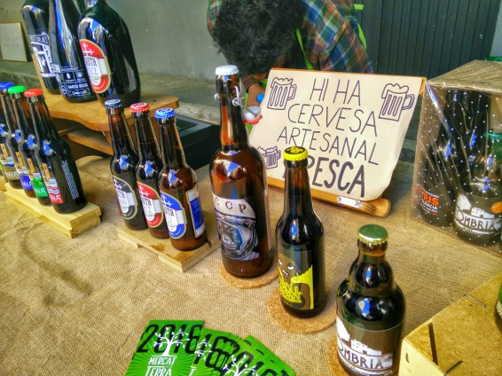 Bières artisanales proposées au marché de Xalo - Madremia Valencia