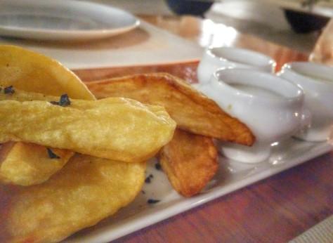 Patatas 3 salsas - Bisbe - madremiavalencia